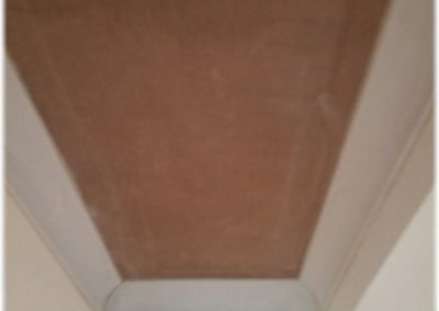 Long narrow ceiling plastered