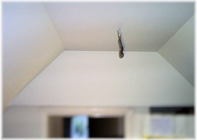 Angled walls & Ceiling plastered.