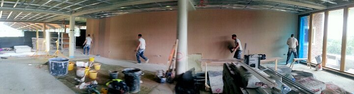 SGB at work plastering
